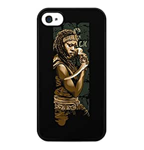 The Walking Dead Michonne Hard Plastic Phone Case Cover Shell For iPhone 4 & iPhone 4s