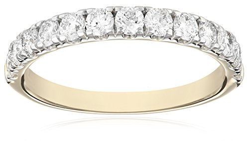 14k Yellow Gold Diamond Anniversary Band (1 cttw, IJ Color, I1-I2 Clarity), Size 6