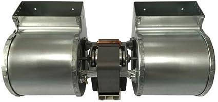 Ventilador centrífugo doble, de Emmevi, 133W, para estufa de pellet Edilkamin modelo Iris, Prisma, Silcalor, Ecoforest