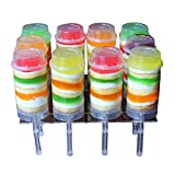ZLKSKER 10-Pack Cake Push Up Pop Containers with Lids,Cake Push Cylinder for Homemade Treats