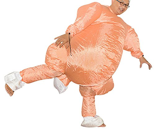Inflatable Turkey Costume (Funny Adult Inflatable Costume Suit Ride Me Inflatable Animal Fancy Dress Jumpsuit,Inflatable Turkey Costume)