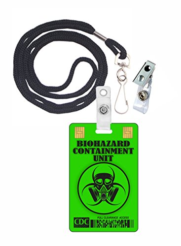 Biohazard Containment Unit Novelty ID Badge Film Prop for Costume and Cosplay • Halloween and Party Accessories