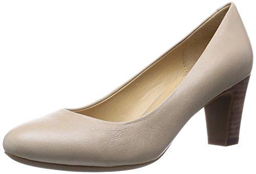 Geox D Mariec Mid B - Zapatos de Vestir de cuero mujer Beige - Beige (Lt Taupe)