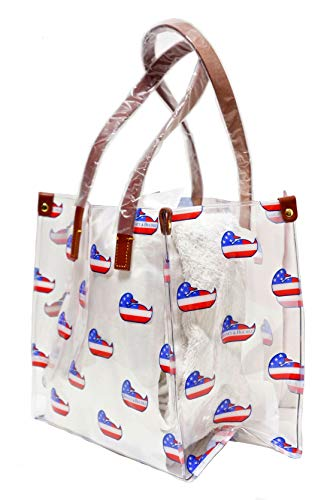 Dooney Bourke Clear IT Medium Shopper Bag Purse Tote (Clear/Duck) (Purses Bourke Dooney Clear)