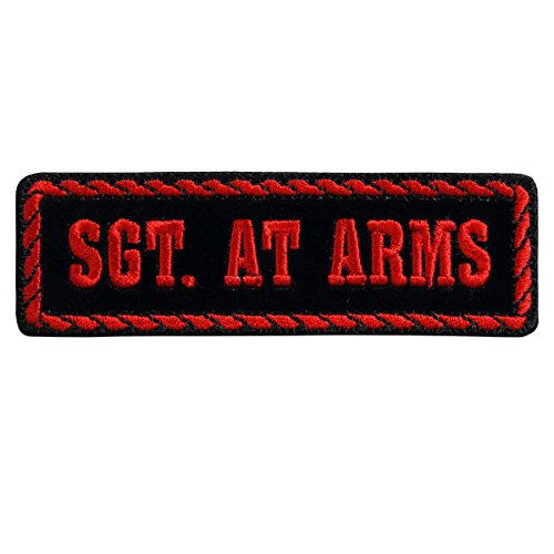 FICER SGT AT ARMS, Embroidered Iron-On / Saw-On Rayon PATCH - 4