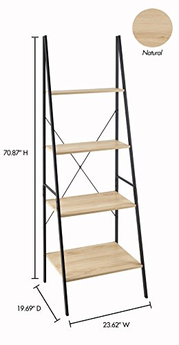 ClosetMaid 1312 4-Tier Wood Ladder Shelf Bookcase, Natural by ClosetMaid (Image #5)