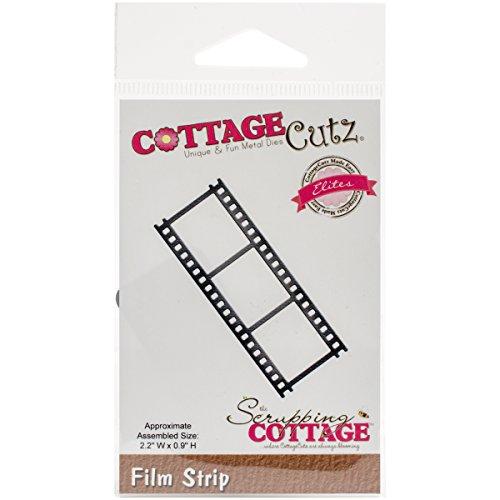 """CottageCutz CCE-382 Elites Die.9"""" x 2.2"""", Film Strip, Silver"""