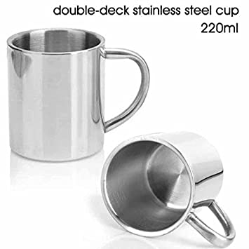 Amazon.com: Taza de café de acero inoxidable de 220 ml con ...