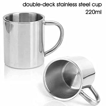 Amazon.com: Taza de café de acero inoxidable de 220 ml con ...