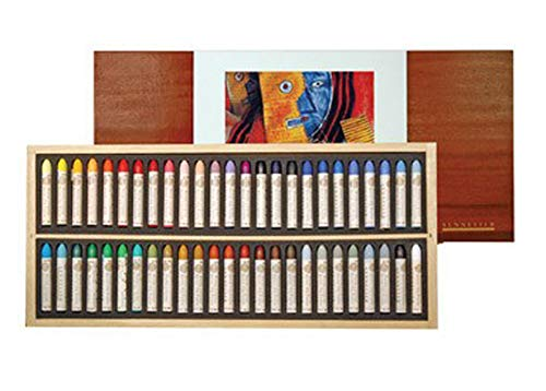 (Sennelier Artist oil pastel set of 50 in luxury wood box - Best Price on Web!)