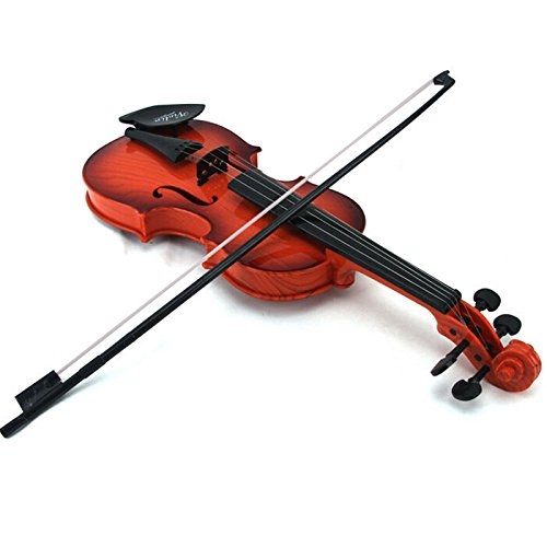 ABS Child Music Playing Instrument Small Violin Electronic Violin Toy Kids gift Starter Kit Brown HOUTBY 1