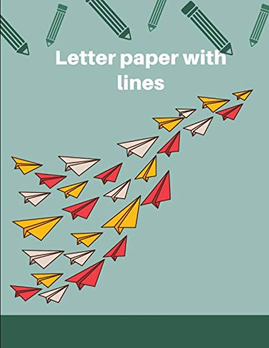 letter paper with lines: Notebook lined large : notebook/ tops and bottoms kids/ notebook school paper/notebook lined journal/notebook journal ... journal for kids( writing paper with lines)