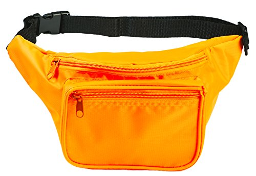 Halloween Rave Costumes Guys (Funny Guy Mugs Plain Fanny Pack, Neon Orange)