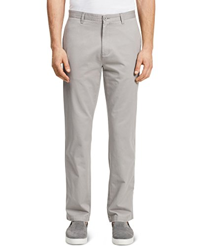 Calvin Klein Men's Dylan Soft Wash Straight Leg Chino Pant, Glacial Tint, 33Wx32L