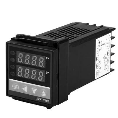 SODIAL(R) SSR Dual Two Digital Display F/C PID Temperature Controller