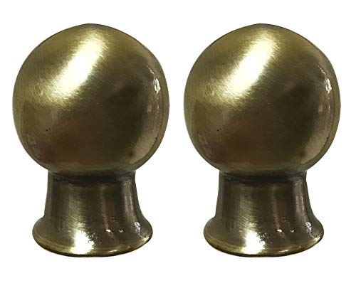 Royal Designs F-7012AB-2 Ball Finial, Antique Brass, Set of 2