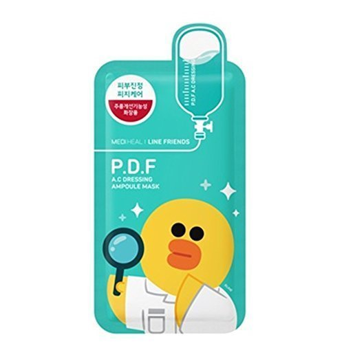 Price comparison product image Mediheal Line Friends P.D.F A.C Dressing Ampoule Face Mask Sheet 27ml X 10pcs