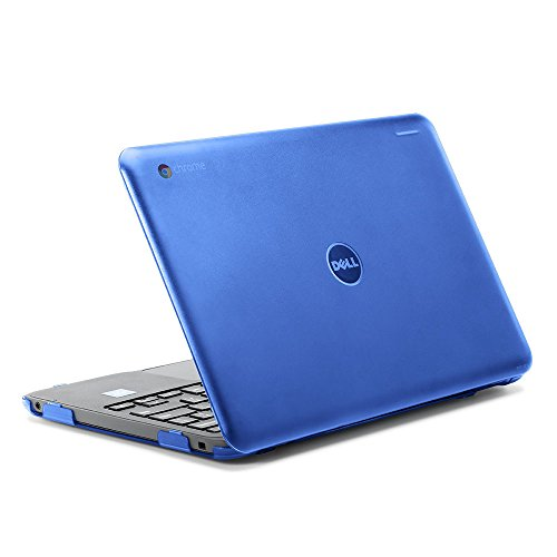 """iPearl mCover Hard Shell Case for 2017 11.6"""" Dell Chromebook 11 3180 Series Laptop (NOT Compatible with 210-ACDU / 3120/3189 Series) (Blue)"""