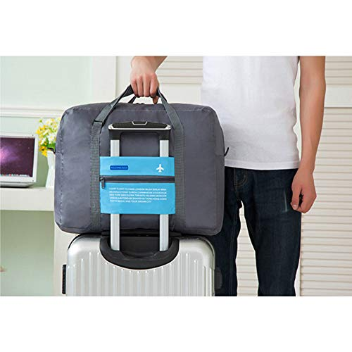 Luggage Bag, Tearcam Foldable Travel Lightweight Storage Carry Luggage Duffle Tote Bag (BLUE)
