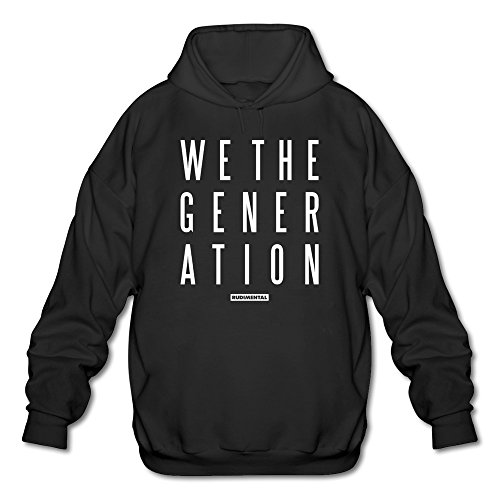 Standing Pilot Natural - Men's Rudimental We The Generation Albums Hoodie Black XX-Large