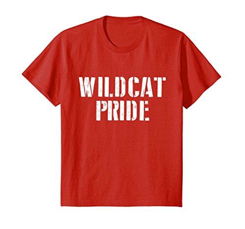 Kids Wildcat Pride T Shirt for any Sports Fan School Spirit Shirt 12 Red
