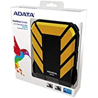 ADATA AHD710-1TU3-CYL - Disco Duro Portátil Dash Drive HD710, 1TB, USB 3.1, Protección militar, Soporta caídas, golpes, agua, color amarilo