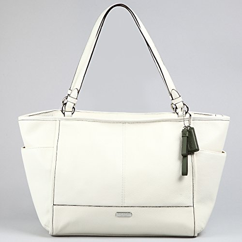 COACH 29898 PARK LEATHER CARRIE TOTE PURSE BAG PARCHMENT/OFF WHITE ...