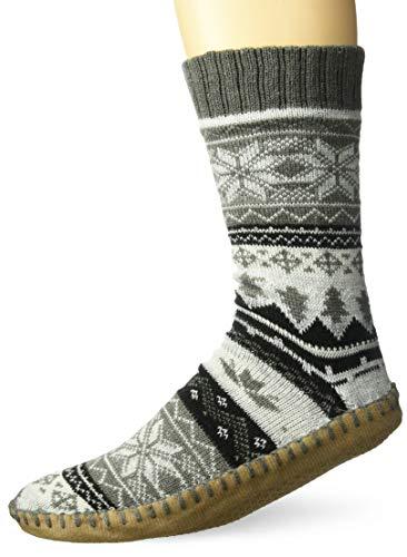 Muk Luks Men's Slipper Socks, floral nordic, Small/Medium (8-10) ()