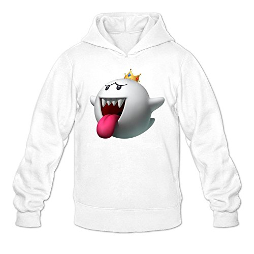 Custom Men's Boo King Super Smash Bros Printed Sweatshirt Pullover (Cute Super Mario Bros Halloween)