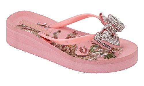 Bebe Women's Jamye Sandal Pink ByOVO1ERX