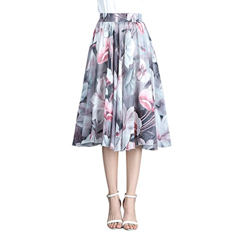 Casual Jupe Jupe Plisse Longue vase Jupe Mesdames Bohmienne Style9 Haute CHENYANG Taille x5anTwp1