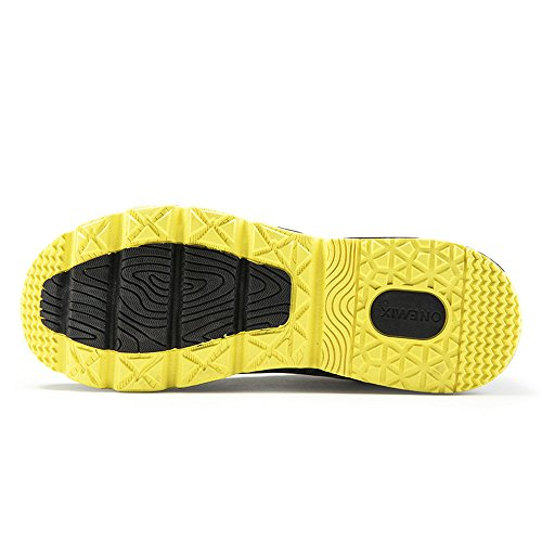 Onemix Mens Air Running Shoes Casual Sneakers Sportive Gialle