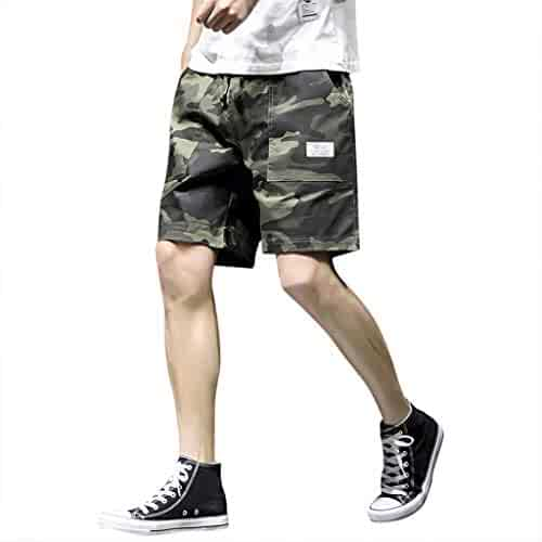 Car Electronics & Accessories aiNMkm Men Shorts Fashionable Casual Shorts Mens Pure Color Button-Pocket Overalls Wind Overalls Shorts Beach Shorts