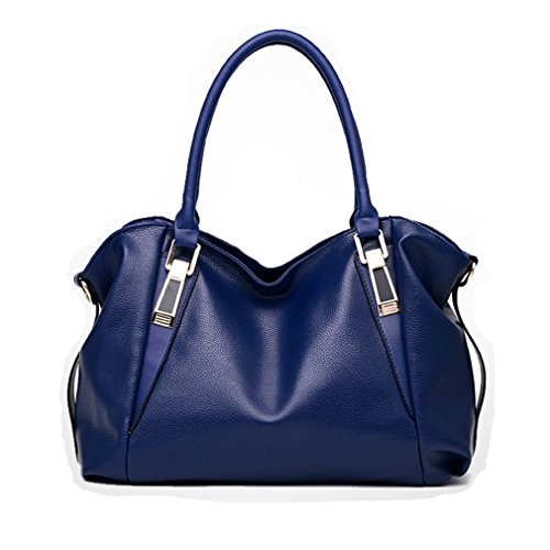 de venta Ladies Fashion Handbag bolsos Handbags Women señoras bolso hombro Pahajim portátil la Office Azul PU a 78ZEqdwC
