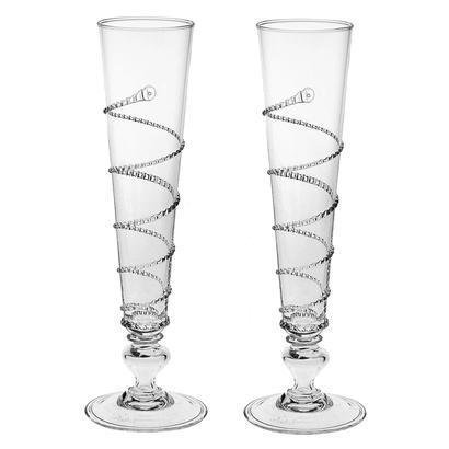 Juliska Amalia Pair of Flutes by Juliska