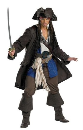 Captain Jack Sparrow Prestige Premium Adult Costume - XX-Large by Disguise