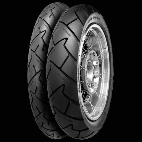 Continental Conti Trail Attack 2 - Adventure Touring/Dual Sport - Rear - 150/70R-18 , Position: Rear, Rim Size: 18, Tire Application: All-Terrain, Tire Size: 150/70-18, Tire Type: Dual Sport, Load Rating: 70, Speed Rating: V, Tire Construction: Radial 244