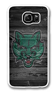 Samsung Galaxy S6 Case, Galaxy S6 Cover - Rugged Plastic Wood Bearcats White Hard Shell Snap on Bumper Case Cover for Samsung Galaxy S6