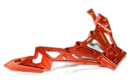 Integy RC Model Hop-ups C26263RED Billet Machined Upper Deck Brace for Axial 1/10 Yeti Rock Racer ()