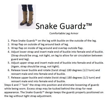 Snake Gaiters - Snake Bite Protection - Khaki Tan (XLarge)