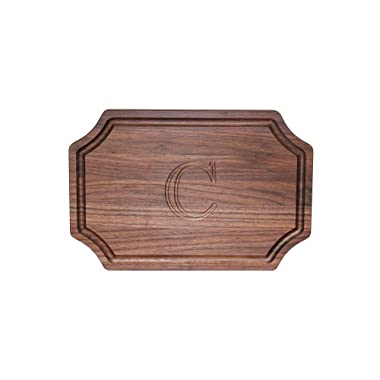 BigWood Boards W310-C Cutting Board, Personalized Cutting Board, Large Cheese Board, Walnut Wood Cutting Board and Serving Tray,  C