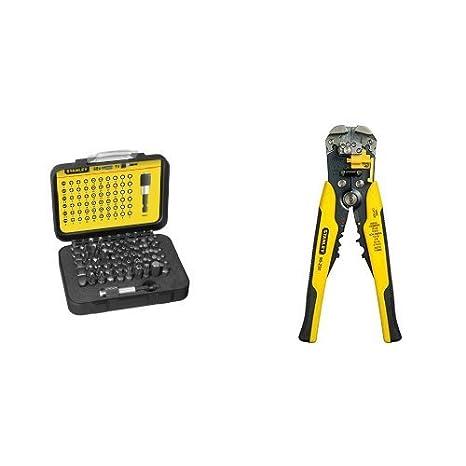 Stanley 1-13-902 - Juego de 60 puntas destornilladores + FMHT0-96230 - Alicate pelacables Automático: Amazon.es: Bricolaje y herramientas