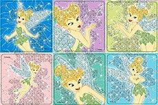 Tinkerbell Glitter Stickers 50 per roll