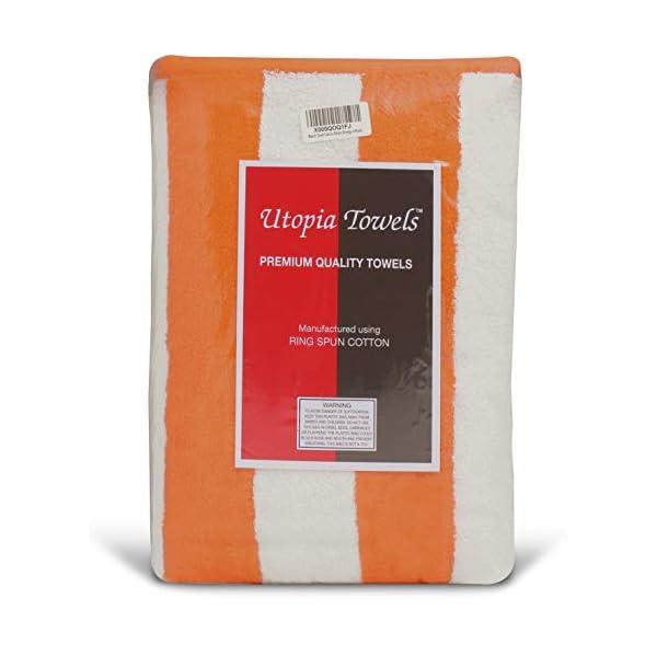 Utopia Towels - 4 Telo mare, Asciugamani da spiaggia, motivo a righe - 100% cotone (76 x 152 cm, Varieta) 6 spesavip