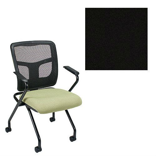 Office Master YS70N-1200 Yes Series Folding Mesh Back Office Chair - Grade 1 Fabric - Celestial Oberon Black