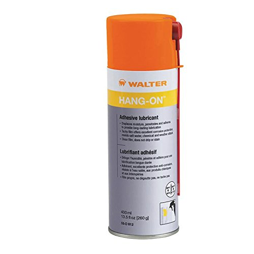 Walter 53D812 Hang-On Adhesive Lubricant [Pack of 12] - 400mL Aerosol Spray, Multi-Purpose, Silicone-Free Industrial Lubricant