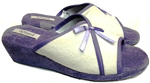 De Fonseca Pantoufles Éponge Pantofole Mod. Compensée Femme, Softy 62 Crème