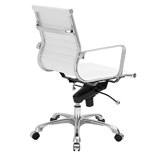eames management chair replica herman miller office price amazon poly bark style manement vegan leather white kitchen dining