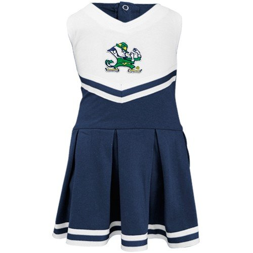 Notre Dame University Fighting Irish Cheerleader Bodysuit Dress,Navy,0-3 ()