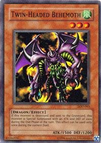 Yu-Gi-Oh! - Twin-Headed Behemoth (LOD-063) - Legacy of Darkness - Unlimited Edition - Super (Legacy Twin)